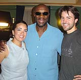 Leslie and Taron with Isaac Hayes