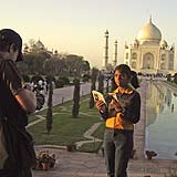 Filming at the Taj Mahal, India